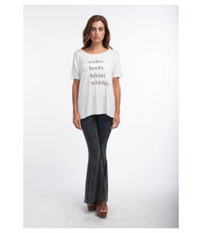 PPLA Checklist T-shirt White/Black