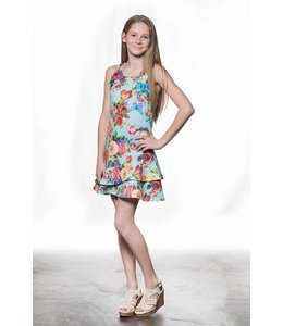 Elisa B Elisa B Dress Floral Graphic