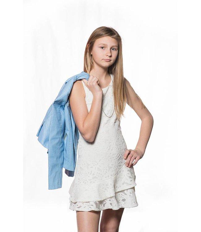 Pink Rock Pink Rock Pleather Cut Dress White