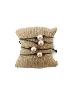 Confetti & Friends Confetti & Friends Pearl Leather Bracelet