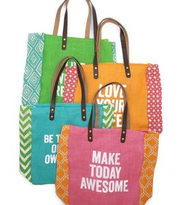 Two's Company Two's Company Jute Tote
