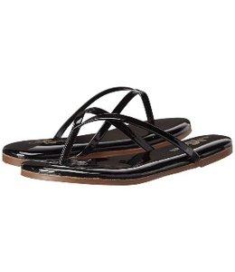 Yoshi Yosi Samra Women's Flip Flops Black Patent