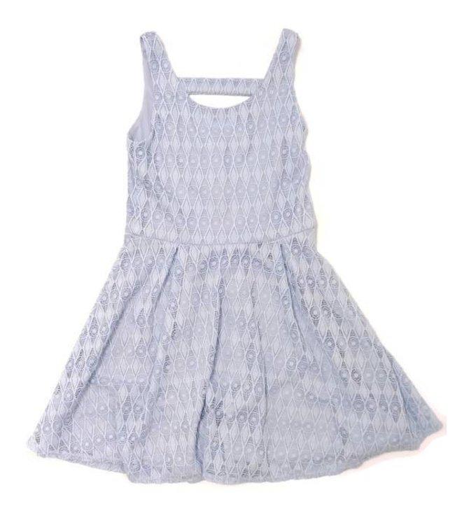 Sally Miller Sally Miller Diamond Crochet Dress Light Blue