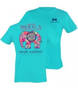 Simply Southern Simply Southern Elephant Shirt Pool/Multi-Adult