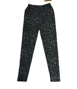 Lori and Jane LJ Floral Design Leggings Black/White