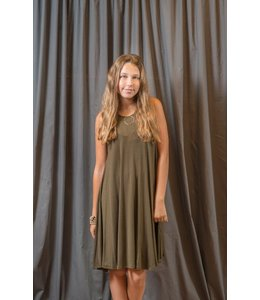 PPLA Remi Cross Back Dress Olive
