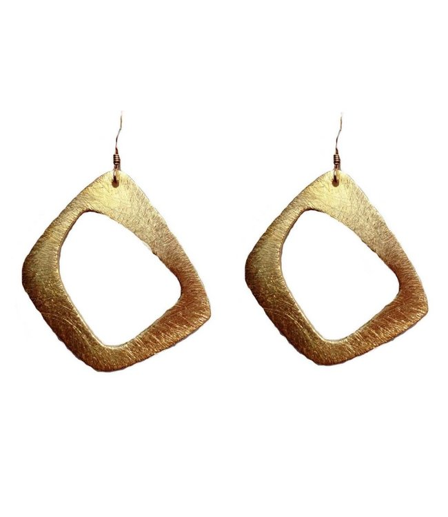 JB Gold Abstract Earrings