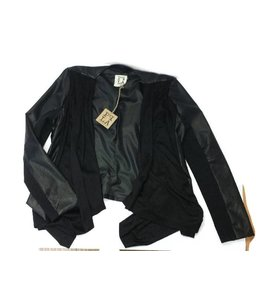 PPLA Suede Pleather jacket Black