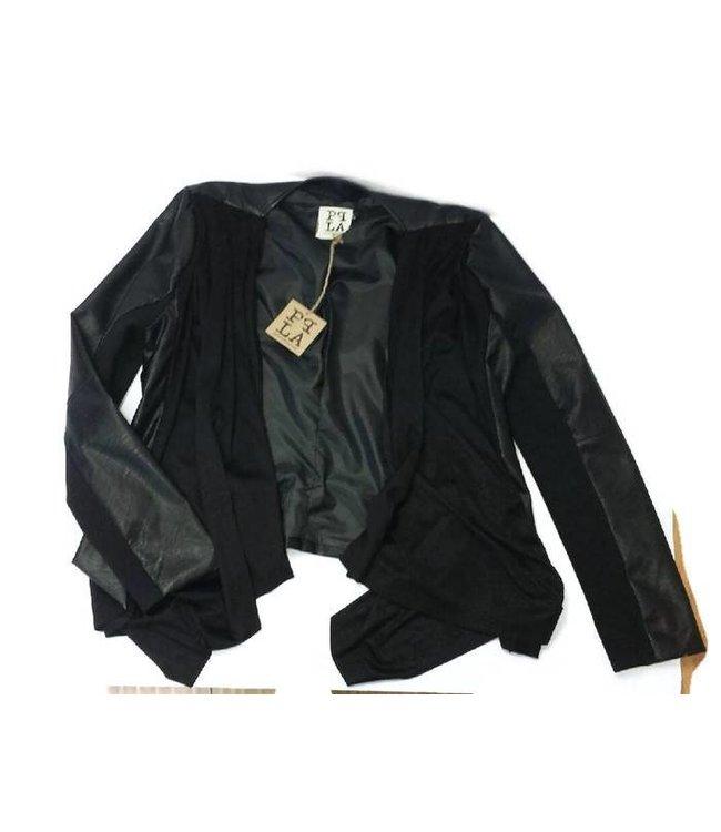 PPLA Suede Pleather jacket Black