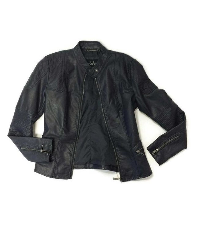 CA Leather Jacket Navy
