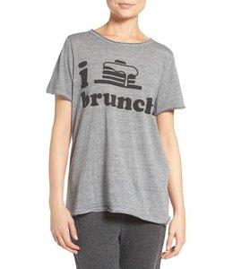 Chaser Women Chaser I Heart Brunch Shirt Grey