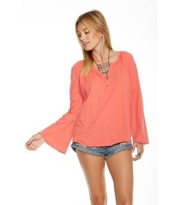 Chaser L/S Bell Sleeve Top Melon