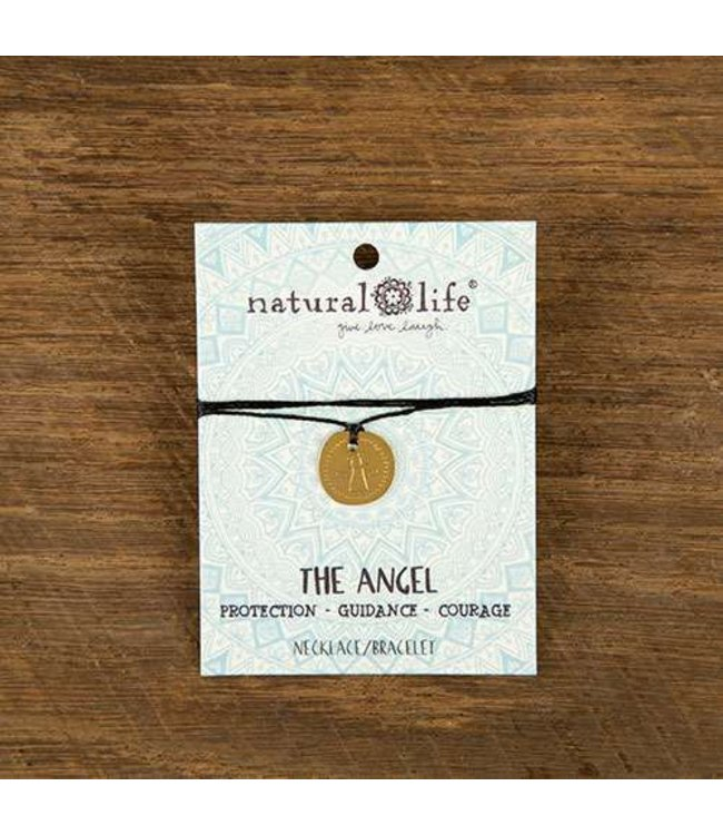 Natural Life Token Choker Necklace Angel