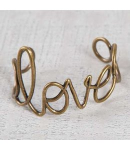 Natural Life Natural Life Wire Cuff Love Bracelet