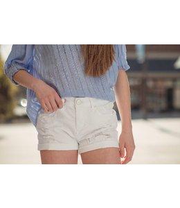 Vintage Havana Women White Denim Shorts by Vintage Havana