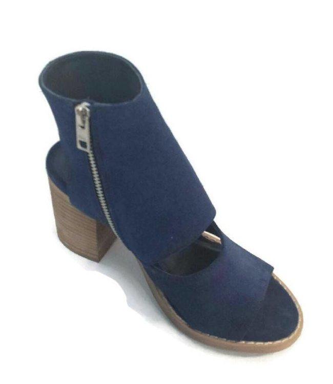 Roey Peep Toe Heel Blue