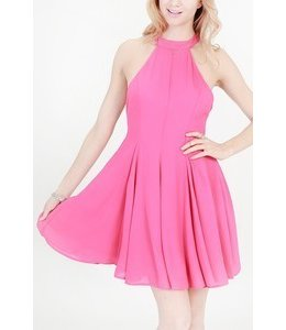 Hyfve Halter Neck Fit And Flare Dress