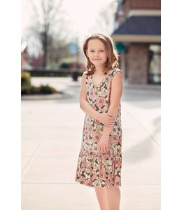 PPLA Tween PPLA Lolo Floral Print Dress Pink/Multi
