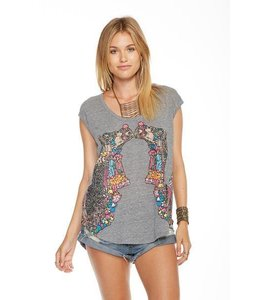 Chaser Women Chaser Decorated Camels Tank Grey/Multi