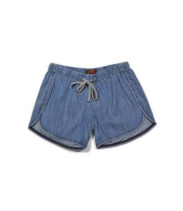 7 For All Mankind Pull On Short Chambray