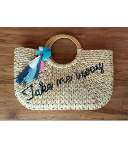 Macbeth Macbeth Take Me Away Straw Tote