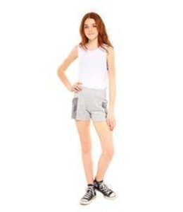 Zara Terez Tweens Terez Terry Cloth Yummies Burnout Shorts Grey