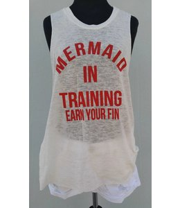 Vintage Havana Women Vintage Havana Mermaid In Training Tank White/Red