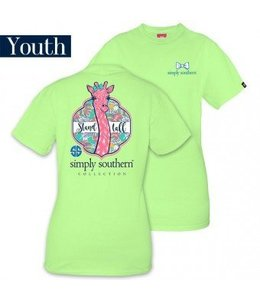 Simply Southern Simply Southern Stand Tall Giraffe Shirt Lime