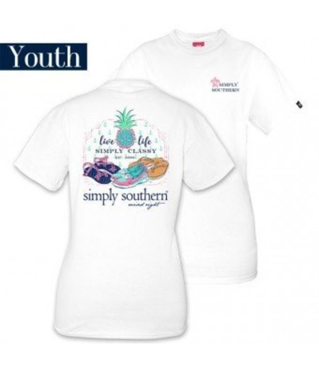 Simply Southern Simply Southern Shoes Shirt White/Multi
