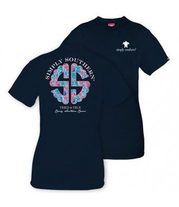 Simply Southern Simply Southern Logo Navy/Pastel