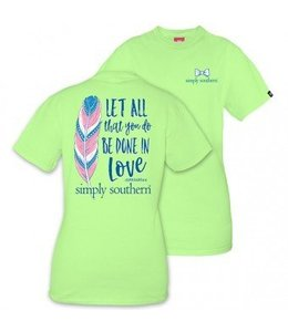 Simply Southern Simply Southern Be Done Shirt Lime/Multi