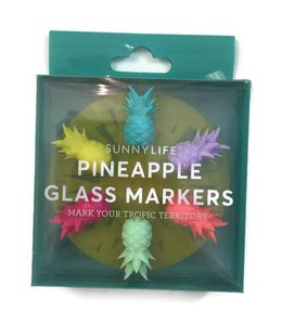 Sunny Life Pineapple Glass Markers