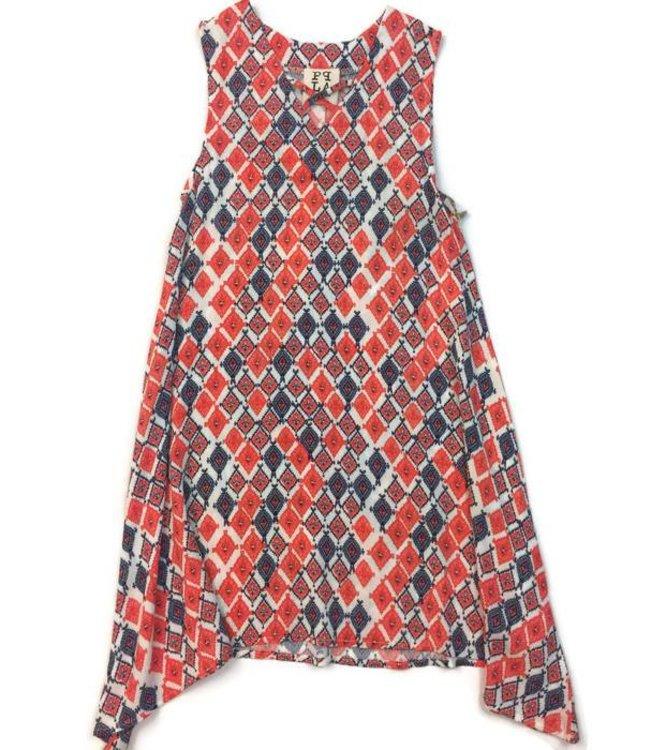 PPLA Tween PPLA Fire Cracker Dress Cherry/Multi