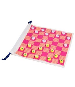 Sunny Life Checkers & Backgammon Travel Pouch