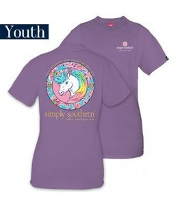 Simply Southern Simply Southern Unicorn Shirt Amethyst