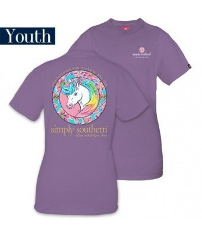 Simply Southern Simply Southern Unicorn Shirt Amethyst