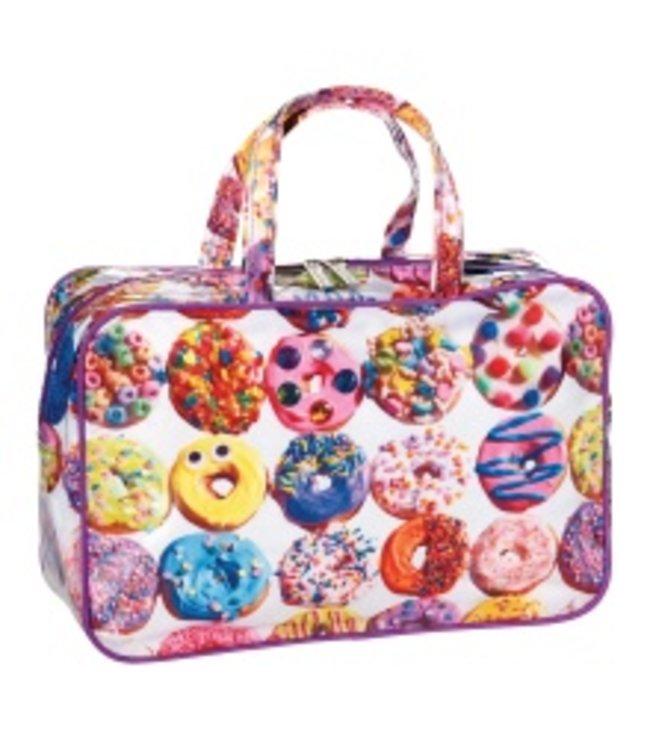 iScream Iscream Assorted Donuts Large Cosmetics Bag Multi