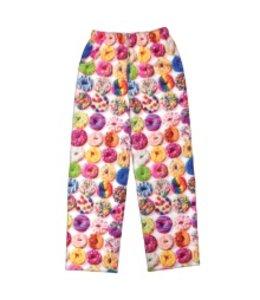 iScream Iscream Assorted Donuts Fuzzy Pants White/Multi