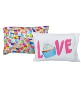 iScream Iscream Cupcakes Pillowcase Set