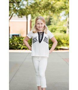 Vintage Havana Tweens Vintage Havana Kids Rock Lace Up White/Black