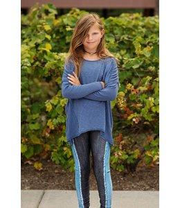 Zara Terez Denim On Denim Legging Charcoal/Blue