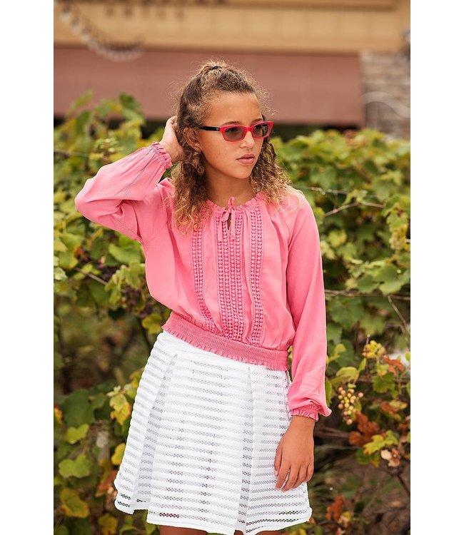 Ella Moss Ella Moss Boat Neck Top Pink