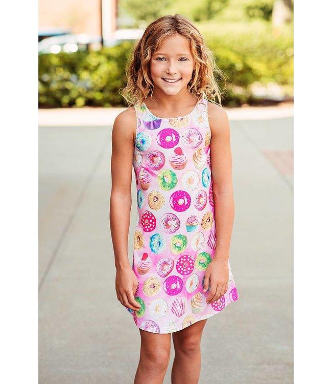 Tru Luv Donut Dress Pink/Multi