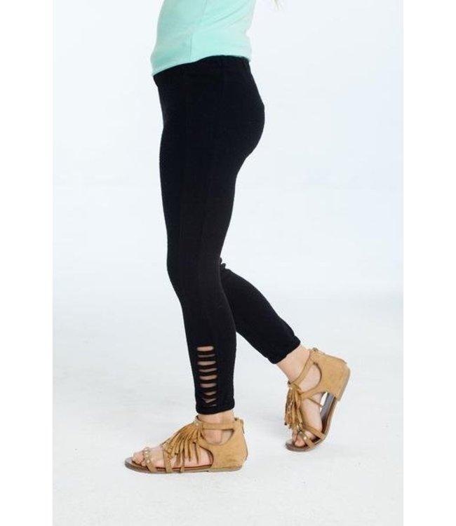 Chaser Tweens Chaser Love Knit Legging Black