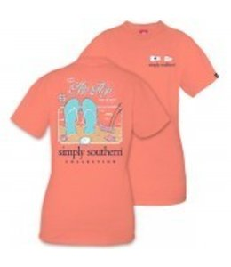 Simply Southern Simply Southern Flip Flop Shirt Poppy