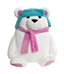 iScream Iscream Microbead Stuffed Polar Bear