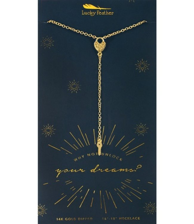 Lucky Feather Lucky Feather Unlock Dreams Necklace Gold