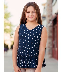 PPLA Tween PPLA Jiana Blouse Navy/Multi