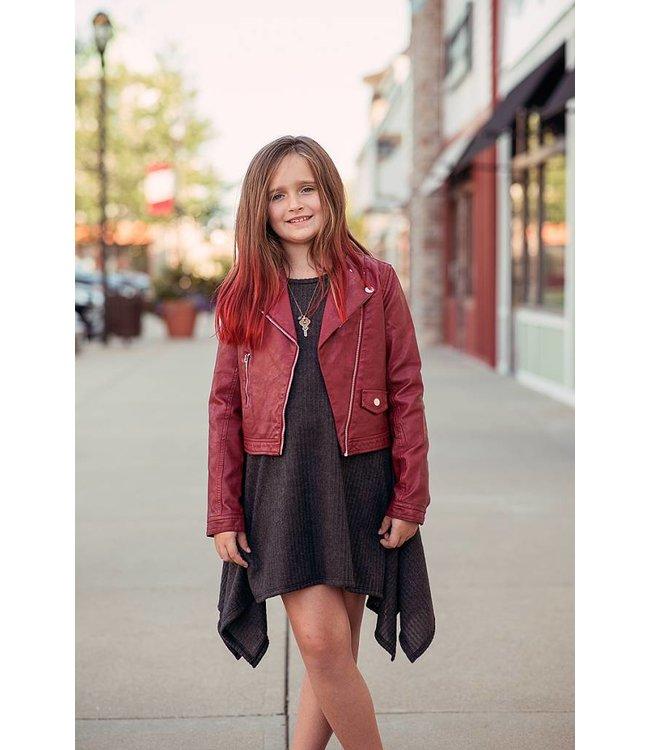 Mayoral Leather Jacket Vino