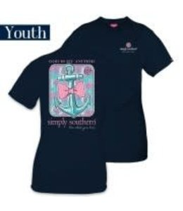 Simply Southern Simply Southern Anchor Shirt Navy